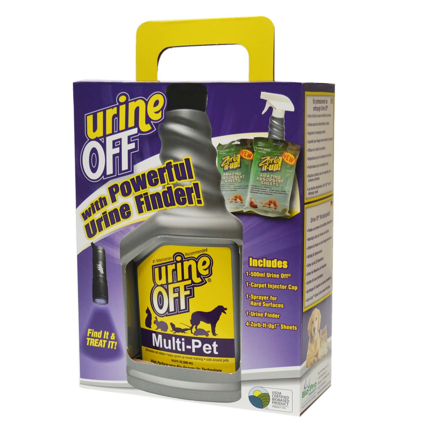 Multi-Pet Clean Up Kit (500 ml/LED urine/ZIU Sheets)