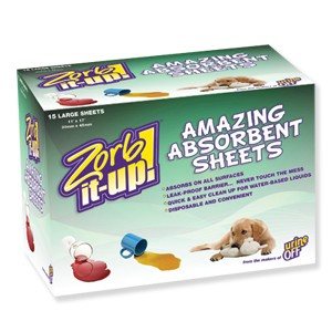Zorb-It-Up!™ Super Absorbent Disposable Sheets - Dispenser Box
